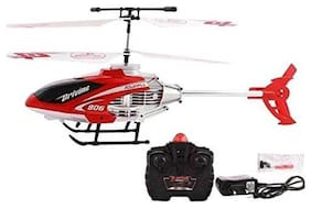 Bhoomi  Premium Super Alloy Velocity Remote Control Mini Helicopter with Rechargeable Batteries || Red|| H-12