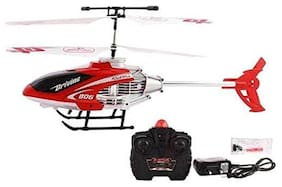Bhoomi  Premium Super Alloy Velocity Remote Control Mini Helicopter with Rechargeable Batteries || Red|| H-06