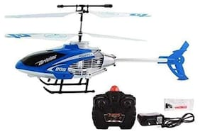 Bhoomi  Premium Super Alloy Velocity Remote Control Mini Helicopter with Rechargeable Batteries || Blue|| H-07`