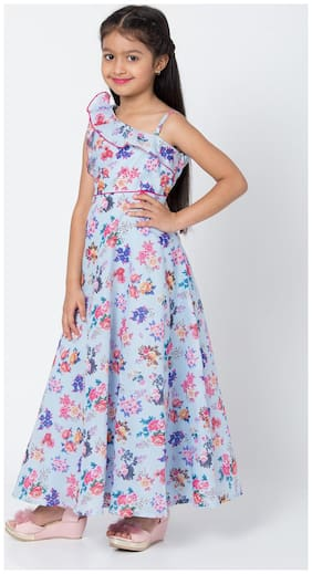 BIBA Blue Art Silk Anarkali Dress
