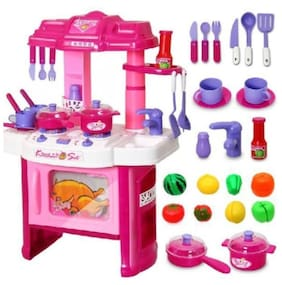 Big Kitchen Cook Set Toy Kids Play (color may vary)