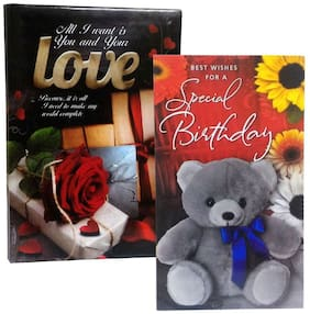Birthday Greeting Card & Love Diary Combo