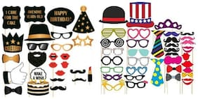 Birthday Theme Gold and Black  Party Props Pack 2 (Theam 27pcs & Props 36pcs)