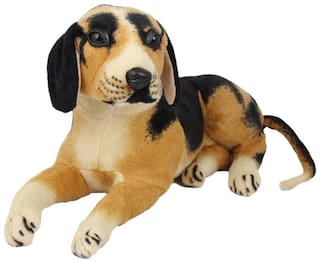Black Sitting Dog Stuff Animal 40 cm