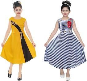 Blended Frocks and Dresses Multi For Girls