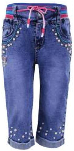 BLISARA Girl Cotton Trousers - Blue