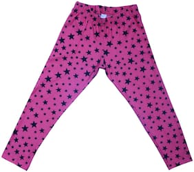 BLISARA Cotton Printed Leggings - Pink