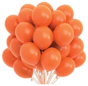 Blooms Mall Vibrant Colours Combo Pack of 50 Balloons - Orange Balloons Combo