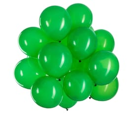 Blooms Mall Vibrant Colours Combo Pack of 100 Balloons - Green Balloons Combo