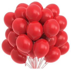 Blooms Mall Vibrant Colous Combo Pack of 100 Balloons - Red Balloons Combo