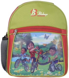 BLUBAGS 13 Litre Green shivaa Cycle Bag Nursery to UKG School Bag for Kids Girls And Boys