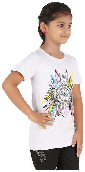 Blue Girls Girl Cotton Solid Top - Brown