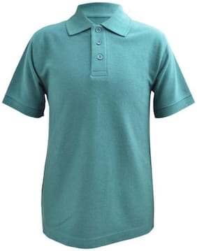 Blueriver Boys Green Solid Polo T-Shirt