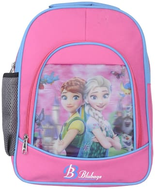 BLUTECH 13 Litre Pink Nursery to UKG aana ellsaSchool Bag for Kids Girls