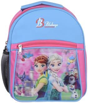 BLUTECH 13 Litre Pink And Blue Nursery aana ellsaSchool Bag for Kids Girls