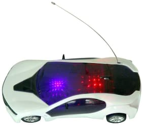 BM 3d Fast Modern Car with Remote Control(white)