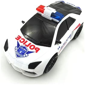 BM 3D Lights Police Car with Sound | Toy for Kids Gift (Multicolor)