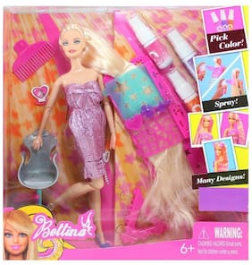 BN ENTERPIRSE SUPER TOY Fashion Doll Hair Color & Design Salon Set with Accessories Toy Set for Small Girls