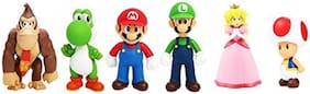 BN ENTERPRISE Montez New Super Mario Bros.U 6 in 1 Super Action Figures Toy Set