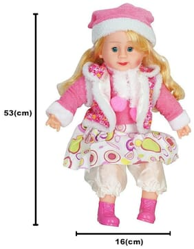 BN ENTERPRISE Play Design Musical Doll Sings Poems Stuffed Plush Soft Doll (Big Size : 54 cm) Toy Kids Girls Birthday Love Gift (Multi Color )