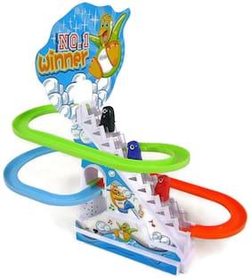 BN ENTERPRISE SAISAN Kid's Funny Penguin Race Toy (Multicolour)
