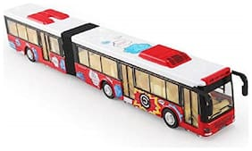 BN ENTERPRISE Long Size Die Cast Metal Body Red Luxury Bus Toy with Light & Sounds Effects for Kids