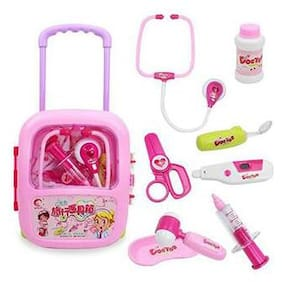 bn enterprise Doctor Play Set with Trolley Suitcase with Light and Sound Effects