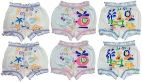 Body Size Bloomer For Boys - White , Set of 6