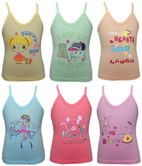 Bodycare Camisole for Girls - Multi , Set of 4