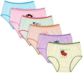 BODYCARE KIDS Panty & bloomer for Girls - Multi , Pack of 6