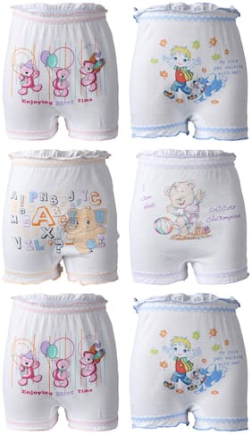 Bodycare Panty & bloomer for Girls - Grey , Set of 6