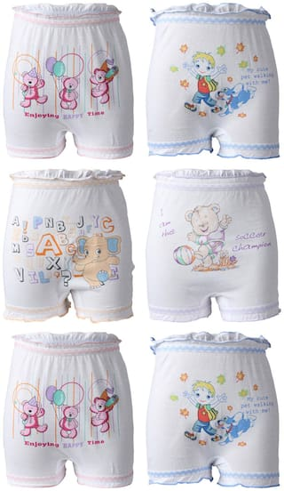 Bodycare Panty & bloomer for Girls - Grey , Pack of 6