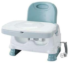 Booster Seat Chair Feeding Baby Toddler Tray Blue White Infant Gift Boy Girl New