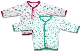 Born Babies Cotton Printed Top for Unisex Infants - Multi