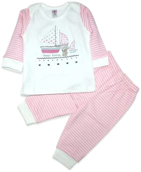 Born Babies Baby boy Top & bottom set - Pink & White