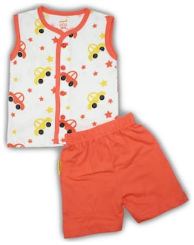 Born Babies Unisex Top & bottom set - Orange