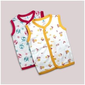 Born Babies Cotton Printed Top for Unisex Infants - Multi