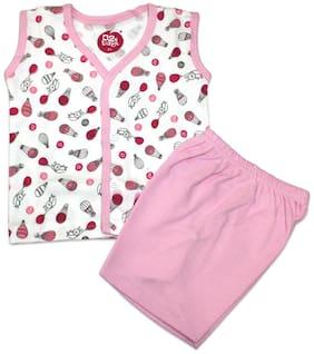 Born Babies Unisex Top & bottom set - Pink