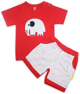 Born Babies Unisex Top & bottom set - Red