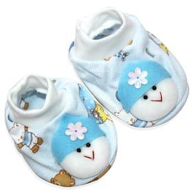 Born Babies Soft Cotton Baby Boy/Girl Booties (Blue)