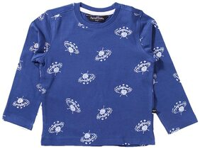 Parrot Crow Boy Knitted Printed T-shirt - Blue