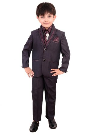 Boys Coat Suit with Shirt Pant and Tie Kids Wear by Arshia Fashions - 2 - 11 Years - Full Sleeves - Party Wear