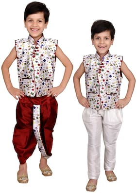 Boys Designer kurta Pyjama and Dhoti for party wear and wedding by J D Creation
