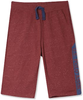 U.S. Polo Assn. Boy Solid Shorts & 3/4ths - Red