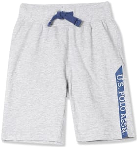 U.S. Polo Assn. Boy Solid Shorts & 3/4ths - Grey