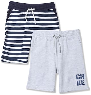 Boys Drawstring Waist Shorts - Pack Of 2