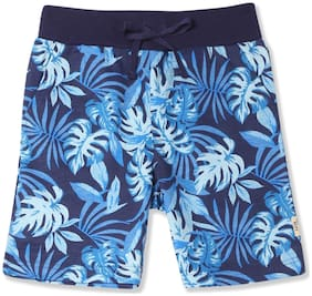 Boys Fern Print Knit Shorts