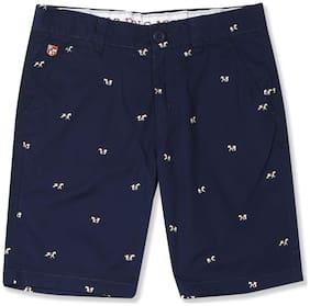 Boys Flat Front Printed Shorts