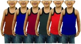 CUPATEX Vest For Boys - Multi , Pack of 6