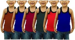 CUPATEX Vest For Boys - Multi , Set of 6